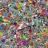 Autool 60'x20' JDM Panda Cartoon Graffiti CAR Sticker Bomb WRAP Sheet Decal Vinyl DIY Automotive Decals