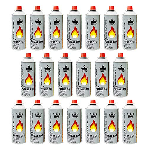 Mianova Gaskartuschen 227g Butan Gas | Bunsenbrenner Campingkocher Kocher Gaskocher Camping Gasheizung Grill Gasbrenner Lötlampe Set 20 Gasflaschen