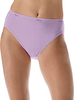 Women's No Ride Up Cotton Hi-Cut Panties 6-Pack_Asst/Solid_7
