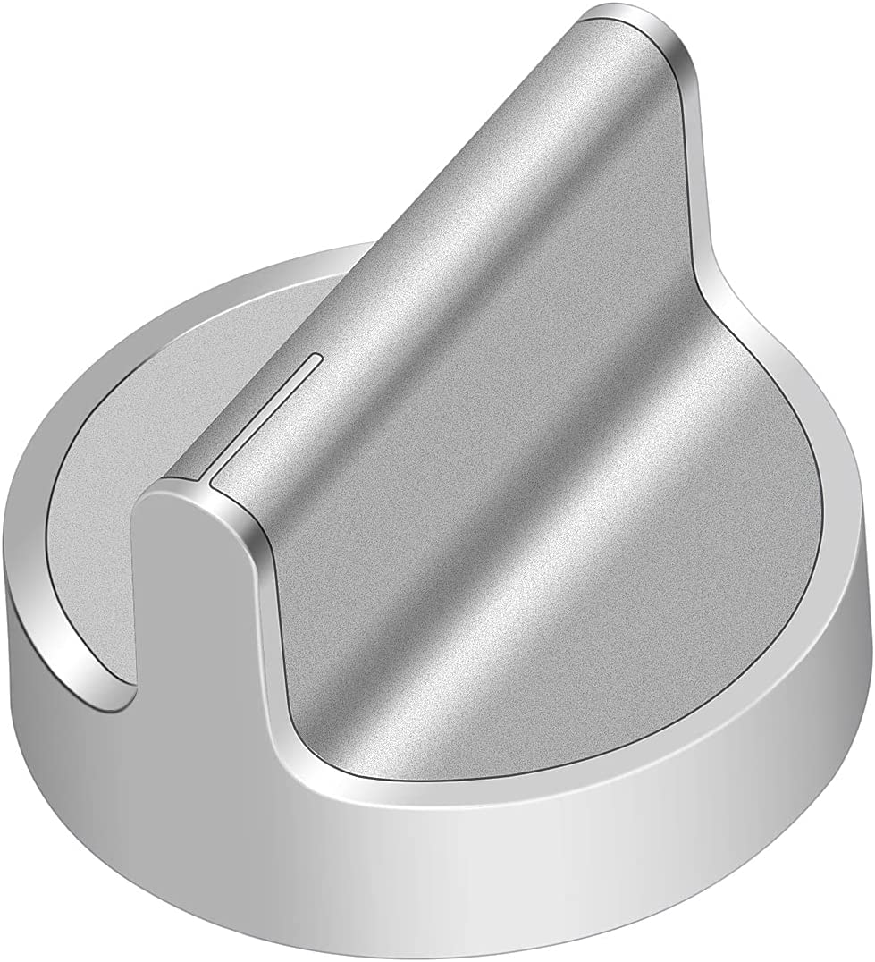 Upgrade W10594481 Stainless Steel Cooker Stove Control Knob, Compatible with Whirlpool Gas Cooktop Range/Oven, Replaces WPW10594481 PS11756643 AP6023301 3281332 EAP10594481(1pc)
