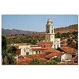 La Plaza Principal de la Torre del Reloj Trinidad Cuba Puzzle 1000 Piezas para Adultos Familia Rompecabezas Recuerdo Turismo Regalo