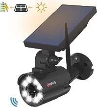 Solar Lights Outdoor Dummy Fake Surveillance Security Camera,800Lumens 8 LED 5W(110W Equiv.) Solar-Powered Motion Sensor Flood Light for Porch Garden Driveway Pathway, HFWS-S2-B