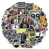 YMSD American Tv Drama Detective Brooklyn? Nine-Nine adesivi per bagagli moto 50 pezzi