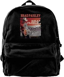 NJIASGFUI Brad Paisley Time Well Wasted Mochila de lona para gimnasio, senderismo, portátil, bolso de hombro para hombres ...