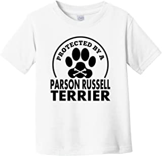 Protected by A Parson Russell Terrier Funny Infant Toddler T-Shirt