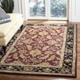 Safavieh Heritage Collection Handcrafted Traditional Oriental Red and Black Wool Area Rug (3' x 5')