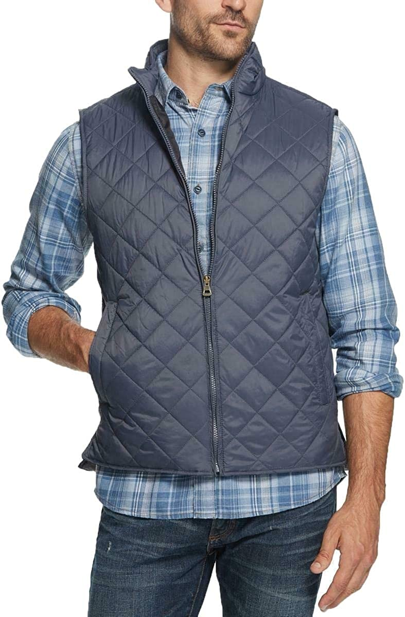 Weatherproof Mens Full Zip Quilted Vest