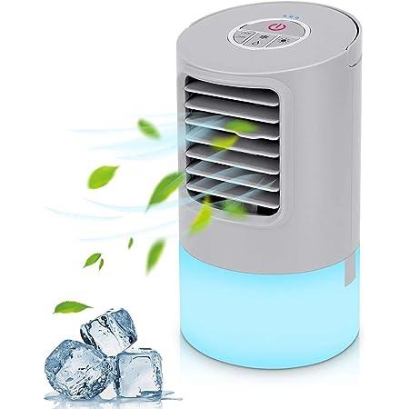 Air Cooler pour Maison//Bureau//Camping 3 EN 1 USB Refroidisseur Dair Portable Ventilateur Purificateur Humidificateur Surhomic Mini Climatiseur Portable Ventilateur