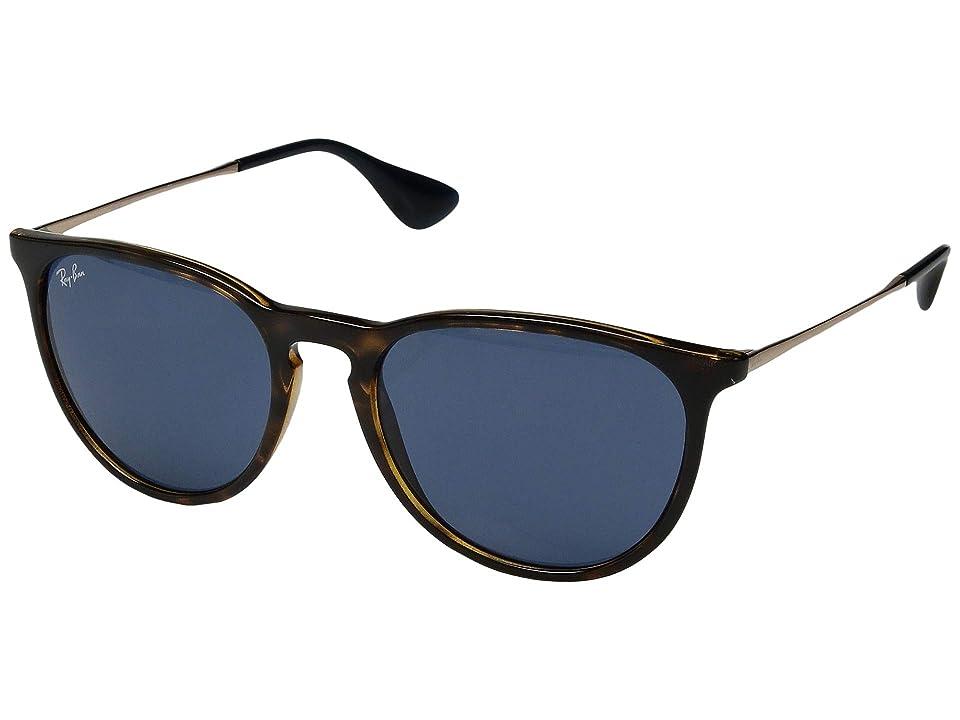 Ray-Ban Erika RB4171 54mm (Shiny Havana/Blue) Fashion Sunglasses