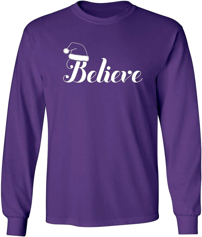 Believe Adult Long Sleeve T-Shirt in Purple - XXX-Large