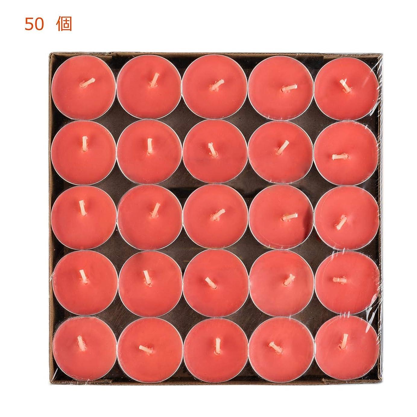 ひどいテラス寛容Hwagui ティーライト キャンドル アロマキャンドル ろうそく おしゃれ 蝋燭 ロウソク ロマンチック 赤 50個 4時間