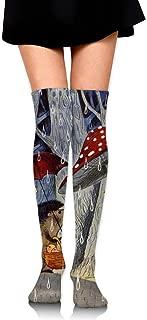 Knee High Socks Rain Hedgehog Long Socks Boot Stocking Compression Socks For Women