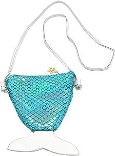 Little Girls Toddler Holographic Mermaid Tail Mini Crossbody Shoulder Bag Coin Purse Handbag