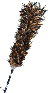 ESCI 【日本製】最高級の手造り毛ばたき! ソフトで艶やかな鶏毛の女王「茶黒キャラ毛」を使用!  全長約103cm ケバタキ茶キャラ M-80