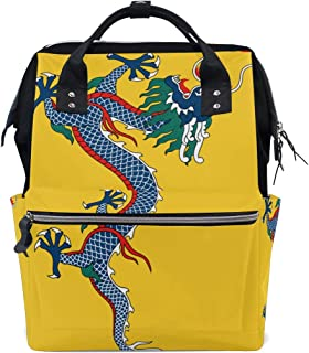 Backpack Imperial China Flag Mens Laptop Backpacks Hiking Bag School Daypack