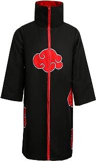 NUWIND Unisex Akatsuki Itachi Cloak Gown Cosplay Disfraz Collar Bata Anime para la Fiesta de Halloween (XL)