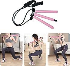 Pahajim Portable Pilates Bar Kit with Resistance Band Yoga Pilates Bar Kit Body Shaping Pilates Stick Hipsline Pilates Bar...