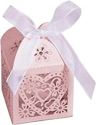Amazon.com: 100Pcs Candy Box Bride and Groom Dresses Wedding ...