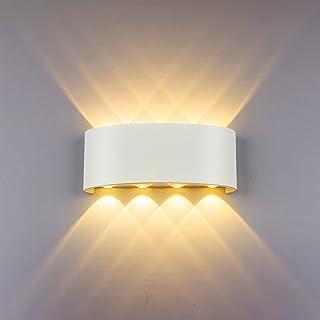 HYDONG Appliques Murales Interieur LED Lampe 8w étanche Moderne Applique Murale en Aluminium Blanc pour Chambre Maison Cou...