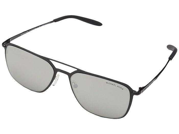 Michael Kors  57 mm Trenton MK1050 (Shiny Black/Silver Mirror) Fashion Sunglasses
