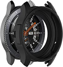 Yaida💞💞Soft TPU Protection Silicone Full Case Cover for Gear S3 Frontier/Galaxy watch46 (Black)
