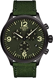 Tissot Men's Chrono XL Fabric Green Stainless Steel Watch T1166173709700