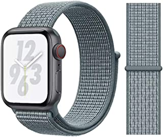 nylon loop band for apple watch series 5, 44mm blue teal color