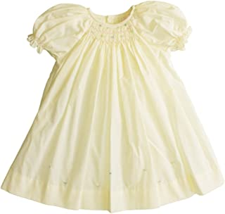 Petit Ami Baby Girls' Daydress with Embroidered Hem