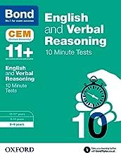 Bond 11+: English & Verbal Reasoning: CEM 10 Minute Tests: 8-9 years