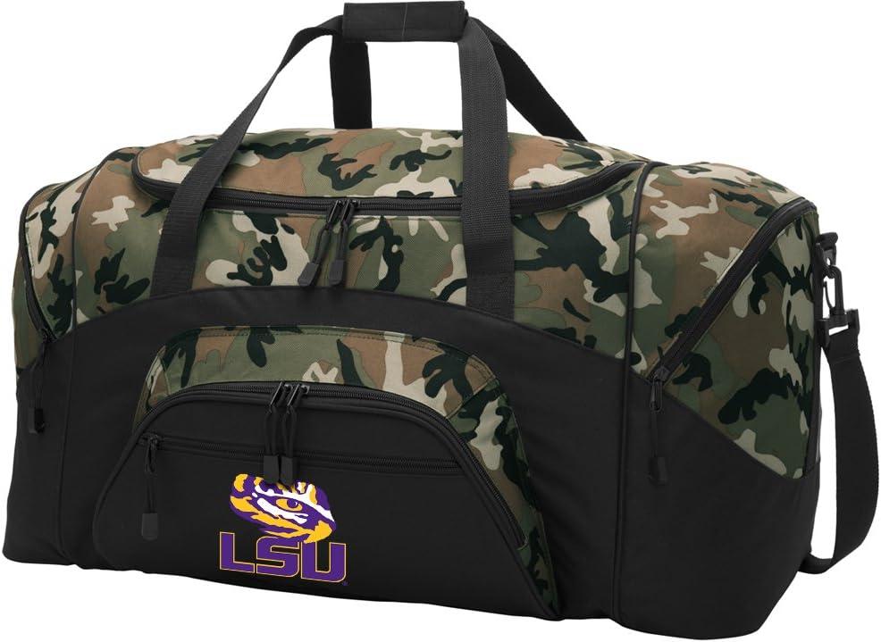 Large Bombing new work Max 49% OFF LSU Duffel Bag CAMO Duffle Luggage Tigers Gif Suitcase