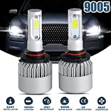 GTP 9005 HB3 LED Headlight Bulbs All-in-One Conversion Kit CSP Chips 6000K Cool White Low Beam Fog Light 72W 8000LM