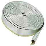 1m Alu Hitzeschutzschlauch 20mm Aluminium Fiberglas Kabelschutz Thermo Schlauch
