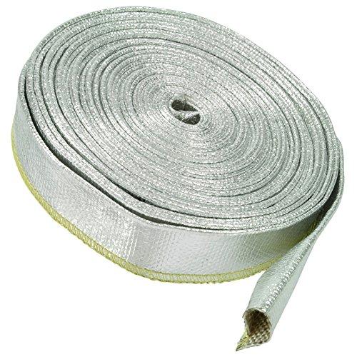 1m aluminio calor protección térmica de manguera 20mm aluminio fibra de vidrio protector de cable manguera