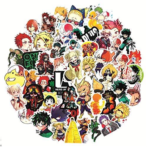 Pegatinas estéticas Bonitas 50/100 Piezas My Hero Academia Japón Anime Pegatinas portátil monopatín Izuku Midoriya Might Boku No Hero Academia calcomanía de Personaje