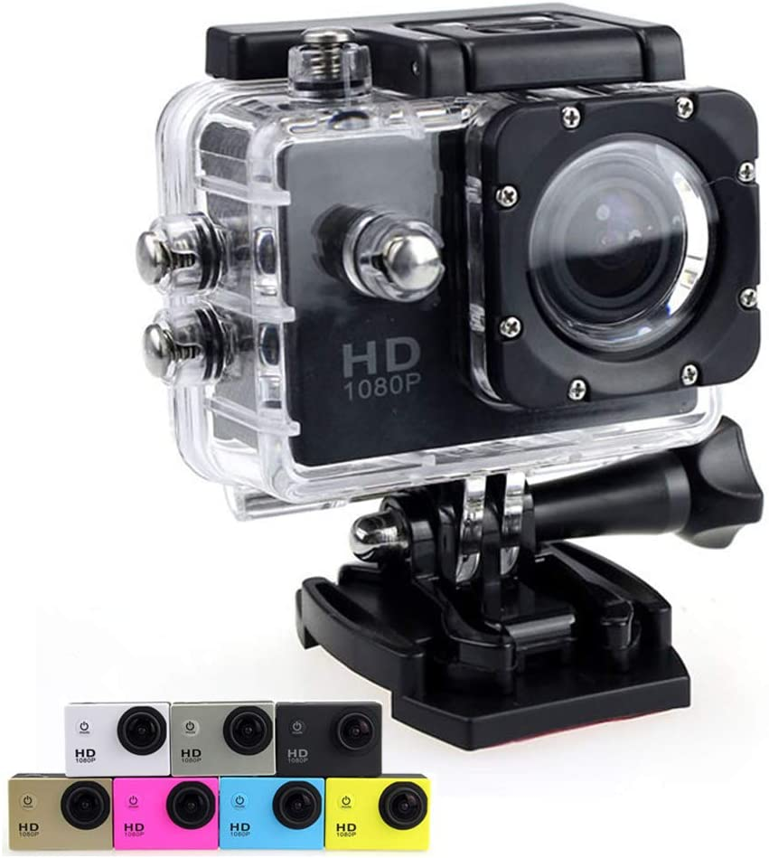 Outdoor Waterproof Sports Action Camera 2.0-inch Screen SJ4000 Diving Cycling Aerial Photography DV Camcorders (Black)