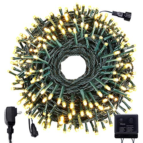 Bestalent Outdoor Christmas String Lights 300 LED 104ft UL 588 Safety Certification Indoor Mini Light for Halloween Xmas Holiday Decoration Warm White