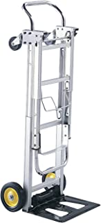 Safco Products Hide-Away Convertible Hand Truck , Dual Function, 400 lbs. Total Capacity, Aluminum Frame