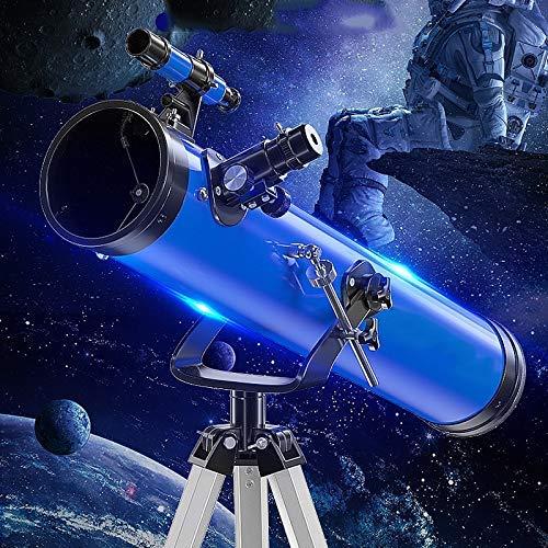 Anfänger-Astronomie-Teleskop für Kinder und Erwachsene mit verstellbarem Stativ, 114 mm großem Durchmesser, tragbaren Reiseabstonomie-Teleskop-Geschenken für Erwachsene Studenten und Kinder