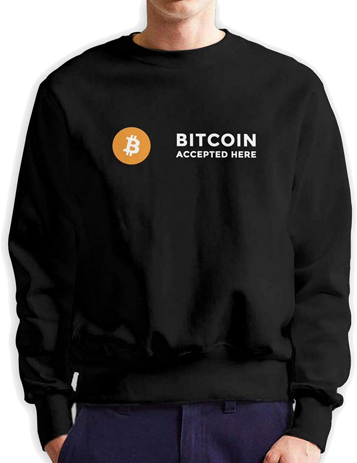 Save money In Crypto We Trust Bitcoin Atlanta Mall Pullover Man Hoodie Authentic Cotton