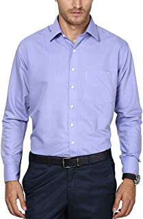 SHAFTESBURY LONDON Mens Cotton Slim Fit Shirt (Blue,)