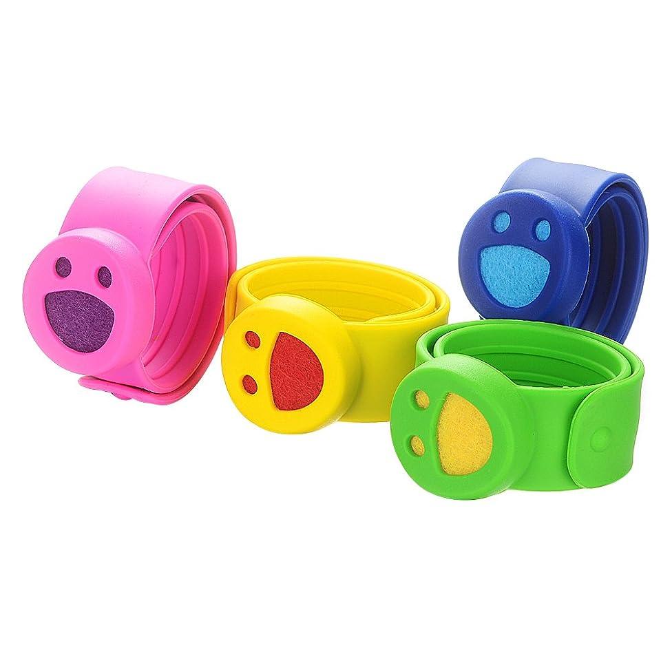 Garden Charms 4pcs Child Cartoon Slap Bracelets Aromatherapy Essential Oils Kids Diffuser Bracelets GCVA975