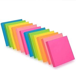 ZCZN Notes Sticky Notes de 6 couleurs vive, 76 X 76 mm Lot de 12 blocs/100 feuilles/Pad, Sticky problème est plus 12 Pack ...