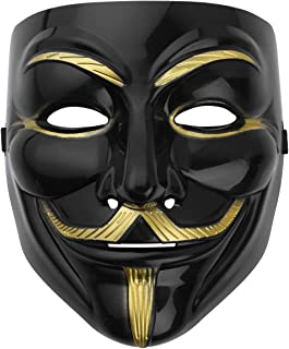 CHICTRY Halloween Mask Plastic Fancy Cool Role Playing Mask for Masquerade Carnival Rave Party Cosplay Costume Black One Size
