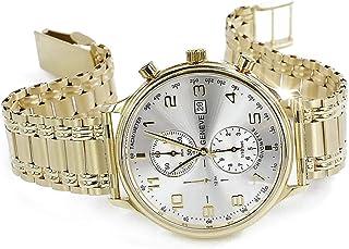 RussiangoldCom - Geneve mw005yds&wb009y - Reloj italiano amarillo o ruso para hombre