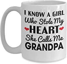 I know a girl who stole my heart Call Me Grandpa Mug - Grandfather Granddaughter - Coffee Mug Tea Cup Funny Gift For Mother, Father Noel, Thank you, Mother's day, Father's Day, Christmas, Xmas