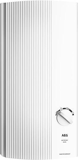 AEG Haustechnik AEG elektronischer Durchlauferhitzer DDLE Basis 18/21/24 kW, umschaltbar, druckfest, stufenlose Temperaturwahl mit 4…