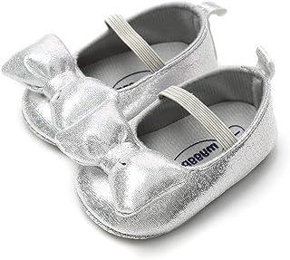 LIVEBOX Newborn Baby Girl Shoes,Soft Mary Jane Princess Party Dress Crib Shoes