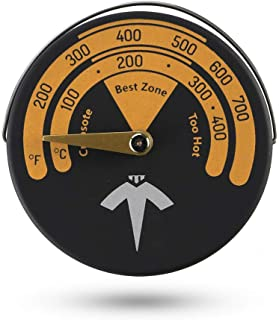 ECZO Magnetic Stove Thermometer Oven Temperature Meter for Wood Burning Stove/Gas Stoves/Stove Pellet/Stovepipe - Avoid Stove Fan Damaged by Overheat