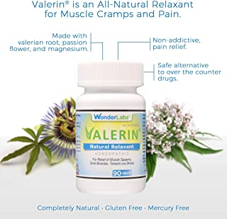Stress, Cramps, Muscle Cramps, All-Natural Relaxant | A Proprietary Blend of Valerian Root, Passion Flower, Magnesium and Other Ingredients for a Homeopathic Option for Pain and Stress - (90ct bottle)