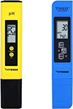 VIVOSUN pH و TDS Meter Combo، 0.05ph دقت بالا نوع قلم pH Meter و +/- 2٪ دقت خواندن 3-in-1 TDS EC Temperature Meter